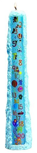Biedermann & Sons CP241LB Baby Shower Birthday 1 to 21 Pillar Candle, Light Blue, 15-Inches Tall