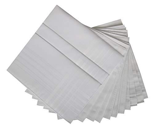 PEROFIL Confezione scatola 12 fazzoletti cm.50x50 articolo S721, Fondo Bianco, UNICA - ONE SIZE