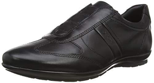 Geox U Symbol, Zapatos de Cordones Derby para Hombre, Negro (BLACKC9999), 43.5 EU