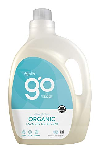 GO by greenShield organic, USDA Certified Organic 100 oz. Baby Laundry Detergent- Free & Clear
