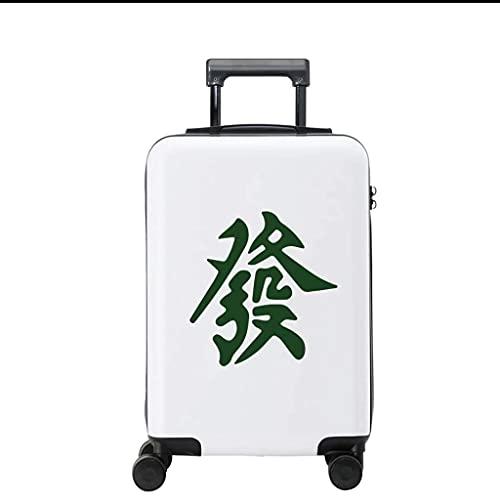 Maleta de Viaje con Ruedas Universal para Equipaje, Caja con Cerradura, Juegos de Equipaje (Color: Verde, Tamaño: 20)
