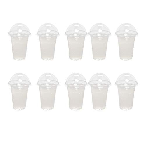 Vasos Desechables Con Tapa Transparentes Marca UPKOCH