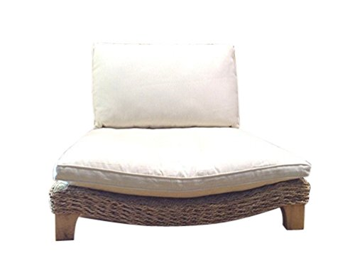 Seagrass Meditation Yoga Chair - Natural with Cream Cushion