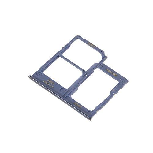 jbTec SD-Card/Dual SIM-Tray/Halter passend für Samsung Galaxy A41 - Slot Karte Schlitten Rahmen Holder Handy Card Ersatz, Farbe:Blau