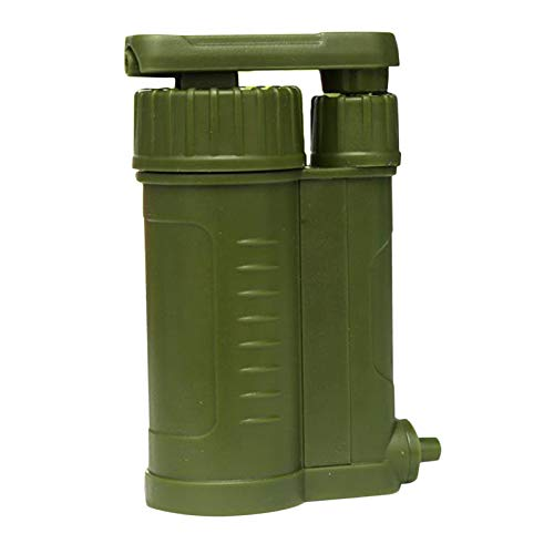 SunniMix Filtro de Agua portátil, Personal de Emergencia para Camping purificador de Agua, con Conjunto Interno de carbón y Ultra Filtro, Membrana de Fibra de