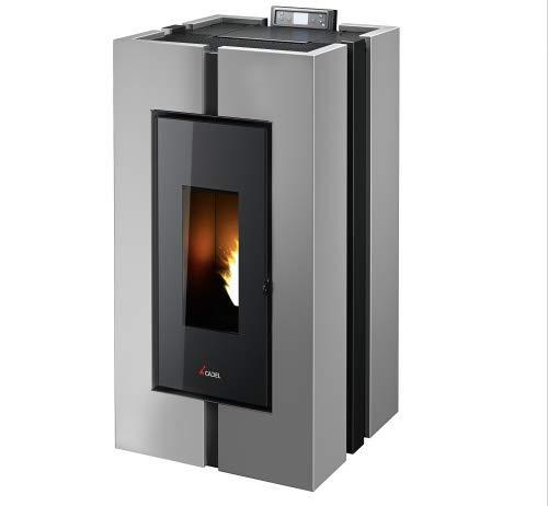 CADEL Doge³ Plus Pelletofen 10,5 kW Pellet Ofen Warmluftverteilung Doge-Silber