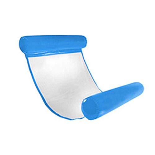 Cama flotante de alta calidad para verano, agua, hamaca flotante, silla flotante Bed sillón agua natación, azul 03, azul