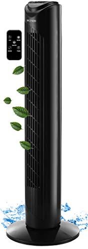 Turmventilator | 45 Watt | 7,5h Timer | 3 Stufen | 3 Modi | Fernbedienung | Tower-Ventilator | LED-Leuchten | Standventilator | Säulenventilator | Fan | Luftkühler