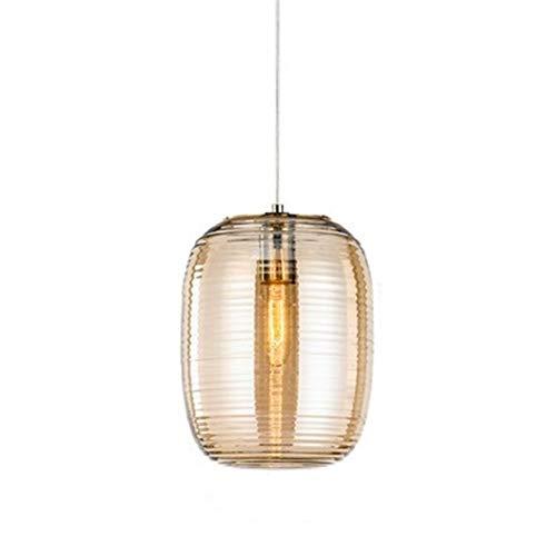Roscada lámpara de cristal Sala Comedor del gusano de seda de noche de la lámpara para Cocina Restaurante (Color : Yellow)