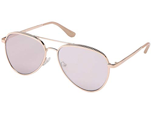 GUESS GF0350 Shiny Rose Gold/Bordeaux Mirror One Size
