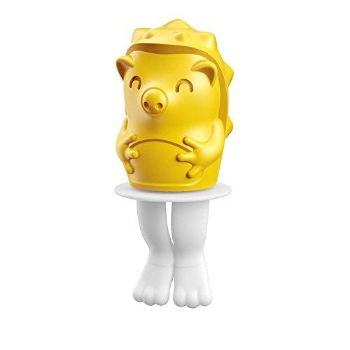 Zoku Eisformen Ice Pop Igel 45ml in gelb, Kunststoff, 28x28x12 cm