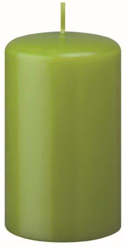 Bougies Pilier Lime 18 x 6 cm, Lot de 12