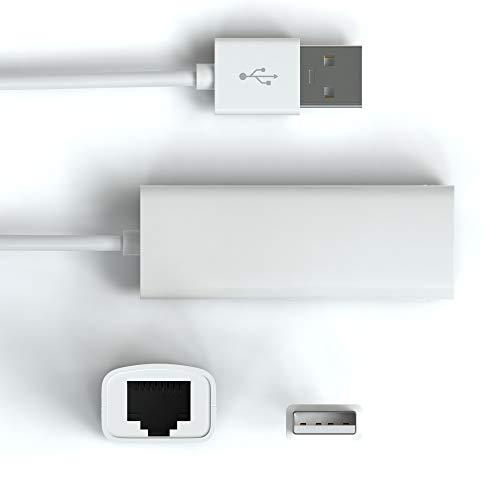 JAMEGA – LAN Adapter USB 2.0   USB zu RJ45 Ethernet Adapter Netzwerk 10/100 Mbps kompatibel mit MacBook, Ultrabook, Surface Pro 3, Windows 10, 8.1, 8, 7, XP, Vista, Linux, Wii, Wii U und viele mehr