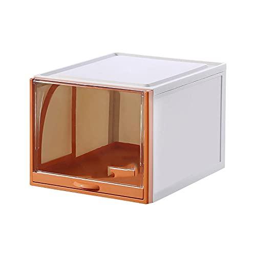 Caja De Zapatos De Almacenamiento Grande, Caja De Zapatos Transparente Engrosada, Zapatos Zapatos A Prueba De Polvo Gabinete De Exhibición-Naranja_S / 35 * 26 * 14.5