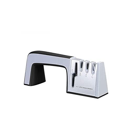 KSDCDF Agarre, afilador de cuchillos for cuchillos más nítidos, chef profesional diseño de 3 etapas, fácil afilado manual, trabajo pesado, restaurar de manera segura, polaco y afilado cuchillos de che