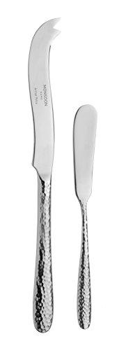 Monsoon Mirage Set di coltelli da Formaggio e Burro, in Acciaio Inox