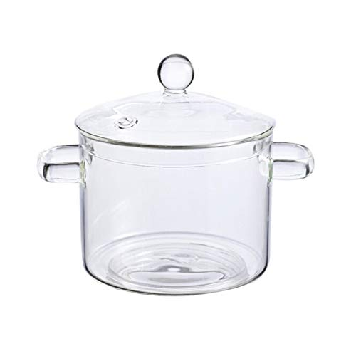 Glass Saucepan Stovetop Pot Heat-resistant Glass Cooking Pot,with Lid Cover Borosilicate Glass Saucepan Casserole,The Best Handmade Glass Cookware Set,for Home Kitchen Or Restaurant