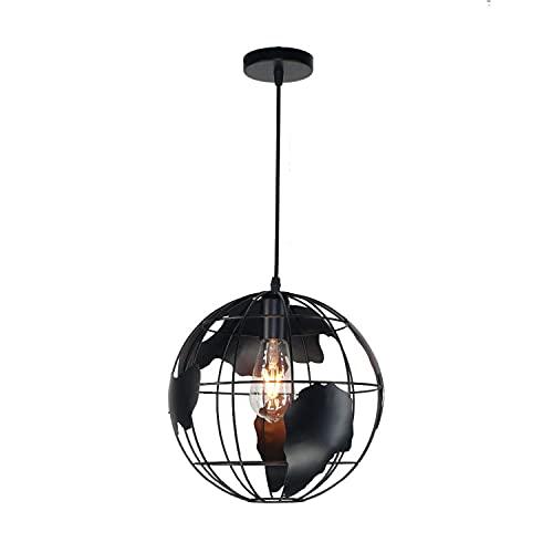 LED industrial hierro tierra estilo retro colgante Lightrestaurant salón comedor bar artístico sola cabeza araña metal Shapechandelier