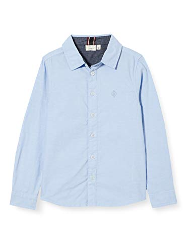 Name IT NOS Jungen NKMNEWSA LS Shirt NOOS, Campanula, 158-164