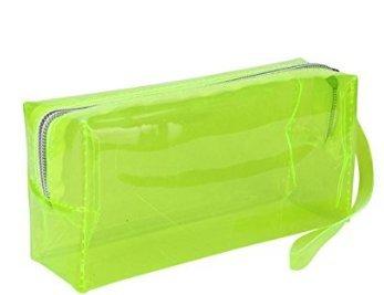 T.Sewing Candy - Estuche transparente para cosméticos (para estudiantes), color amarillo
