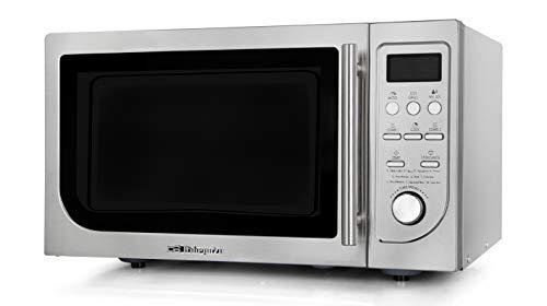 Orbegozo MIG 2525 - Microondas con grill, 25 L, 9 menús, temporizador, 8 niveles de potencia, 900-1000 W, acero inoxidable