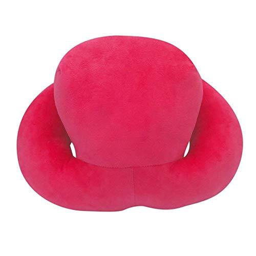 DAUERHAFT Almohada de Escritorio Almohada para la Siesta Amigable con la Piel para apoyar la Cabeza Almohada Plegable(Red)