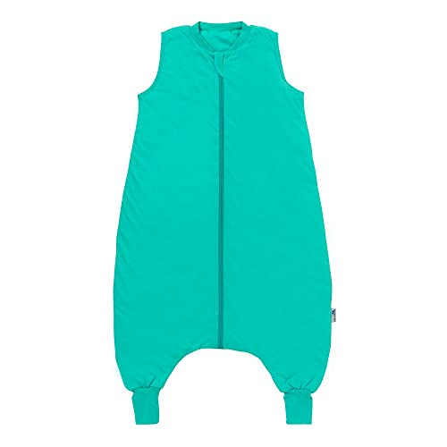 Schlummersack Saco de dormir para todo el año con piernas en 2,5 tog, 100 cm, para una estatura de 100 a 110 cm, color turquesa