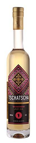 CHACHA, georgischer Tresterbranntwein, 50%, 0,5L, in kaukasischer Eichenfass gereift, weich, JSC Corporation Kindzmarauli (gegründet 1533), Georgien
