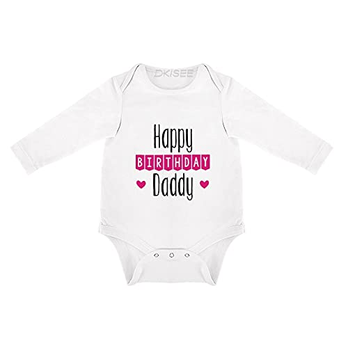 DKISEE Body de bebé de manga larga para papá de feliz cumpleaños, de 0 a 3 meses, o66sk71m5z5d