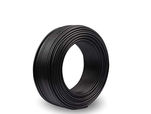 18 AWG 0,75mm² Cable eléctrico Bobina de cable de cobre estañado de silicona para placa de circuito impreso PCB 600V 7,5A -60 ° C - 200 ° C 25 metros Negro