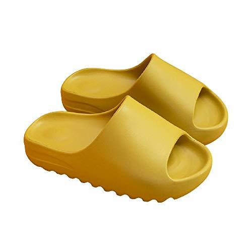 XZDNYDHGX Mujeres Zapatos De Piscina,Toboganes para Mujer, Zapatillas cómodas para el hogar, Zapatos de baño, Sandalias de Verano para Interiores y Exteriores Gruesos, Verde 1 EU 39-40