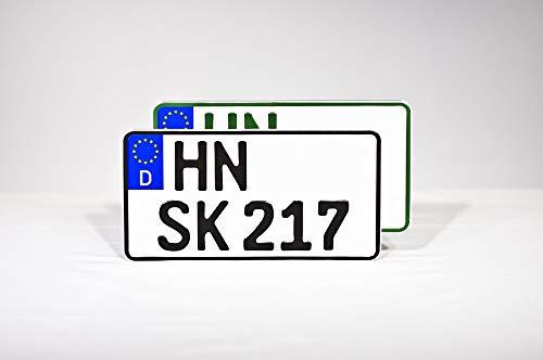 Schilderkröten Traktorkennzeichen (255 x 130mm) (Grün)