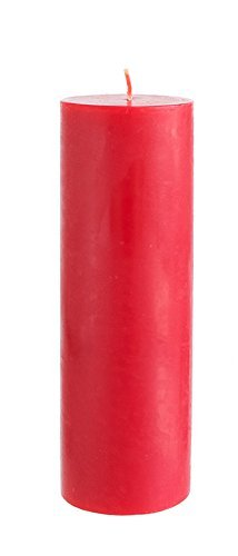 Mega Candles Unscented Red Round Pillar Candle, Hand Poured Premium Wax Candles 3 Inch x 9 Inch, Home D
