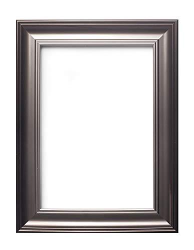 SC fotolijst, Shabby Chic, met een MDF-achterwand om op te hangen, met een zeer heldere styreen-onbreekbare plexiglas-plaat – Gunmetal – 35,6 x 27,9 cm