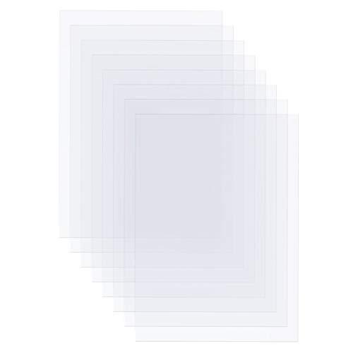 BENECREAT 30 Hojas Película Impermeable de Transparencia para Láser y Inyección de Tinta A4 (29.6x21cm) Pet Película de Transferencia de Impresión para Serigrafía