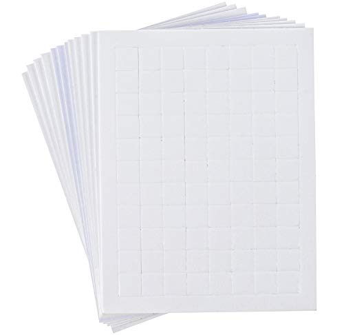 Price comparison product image Adhesive Foam Square Mount,  Dual-Adhesive 0.4-Inch 3D Pop Dots (1056 Pieces)