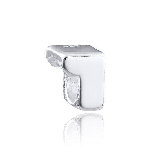 MATERIA 925 Silber Beads Zahl 1 - Zahlen Anhänger für Beads Armbänder/Ketten #1493