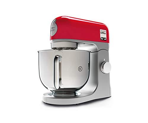 Kenwood kMix KMX750RD, Robot Pâtissier, Robot pâtissier multifonctions avec Bol en Acier 5 L, 1000 Watt, Rouge