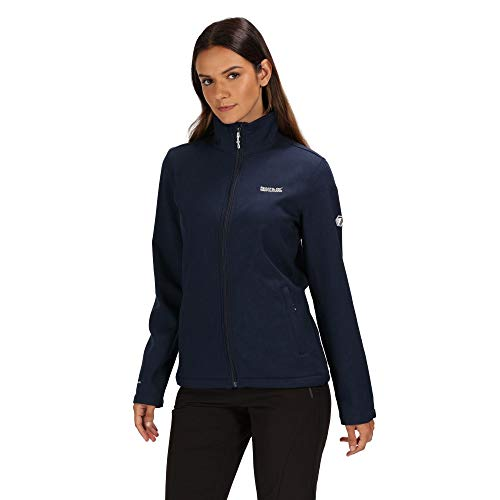 Regatta Damen Womens Carby Water Repellent Wind Resistant Warm Backed Softshell Jacket, Navy, Size: 26