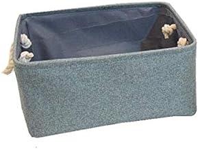 HXSD Folding Storage Basket Foldable Linen Storage Box Bins Fabric Organizer Organize Office Bedroom Closet Toys Laundry B...