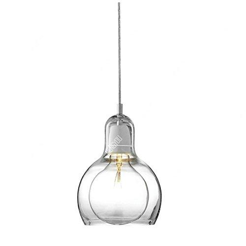 QMMCK Art Decor plafondlamp hanglamp glas materiaal dubbele lampenkap E27 Home Lighting Decor verlichting D300Mm * H430Mm
