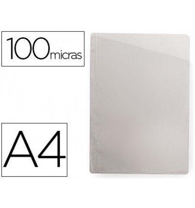 Q-Connect beschermhoezen, schuin, transparant, DIN A4, zonder boren, PVC, 100 mc, doos met 100 stuks