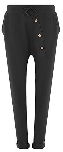FASHION YOU WANT Jogginghose Sweatpants Sterne Boyfriend Ali Baba Style (42/44, Uni schwarz)