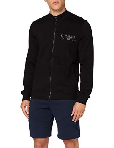 Emporio Armani Underwear Herren Loungewear Sweatshirt, Nero - Black, L