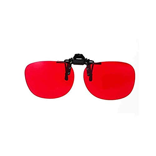 Corrective Glasses 180° Flippable Clip on Colorblind Correction Lens with Box for Red Green Color Blind Vision Care Color Blind Vision Care Medium Strong Grade Glasses