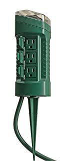 Woods 13547 Outdoor Yard Stake with Photocell Built-In Timer and 6- Foot Cord, Automatic Lighting with Adjustable Settings, Ideal for Holiday Outdoor Lighting, 125-volt / 13-amp, 1625-watt, Green (B001XCWLVK) | Amazon price tracker / tracking, Amazon price history charts, Amazon price watches, Amazon price drop alerts