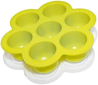 Made-in-USA - Popfex Silicone Egg Bites Mold for Instant Pot Accessories - Fits Instant Pot 5,6,8 qt Pressure Cooker - Reusable Storage Container and Freezer Tray with Lid for Homemade Baby Food