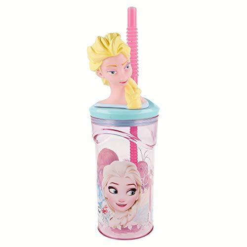 Boyz Toys St398 Gobelet de Figurine 3D – La Reine des neiges, Rose