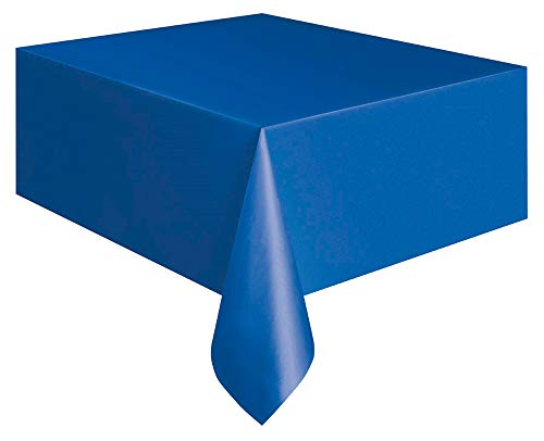 Unique Party 5085 - Royal Blue Plastic Tablecloth, 9ft x 4.5ft