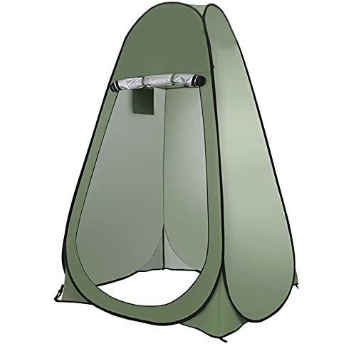 GKTF Tienda De Inodoro Pop Up para Acampar,Tiendas privacidad Instantáneas Carpas Vestidor Vestuario Gabinete de Cambio Portátil Bolsa de Almacenamiento,Verde